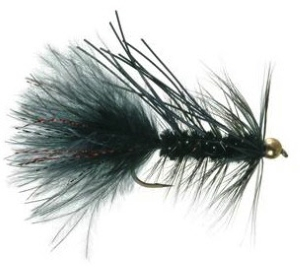 Gold Bead Rubber Leg Crystal Bugger Fly for Trout