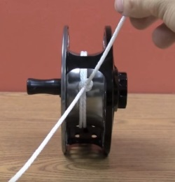 How to attach backing to a fly reel step by step fly for Tying fishing line to reel