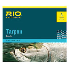 RIO 6' Tarpon Leaders w/ Mono Shock Tippet - 3 Pack