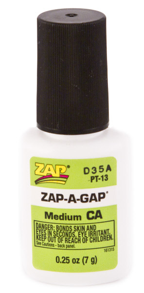 Zap A Gap Brush On 1/4oz. Blister Pack