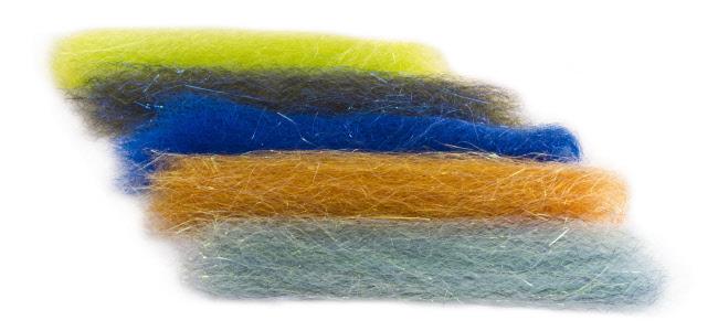 Steve Farrar SF Blend Chartreuse Quality Fly Tying Materials BWCflies