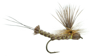 Brown Para-Drake Lawsons Dry Fly for Trout