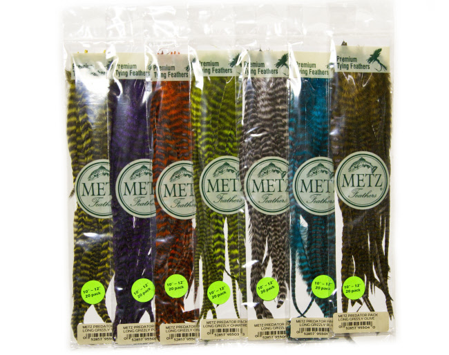 Metz Predator Pack Long Grizzly Schlappen Feathers