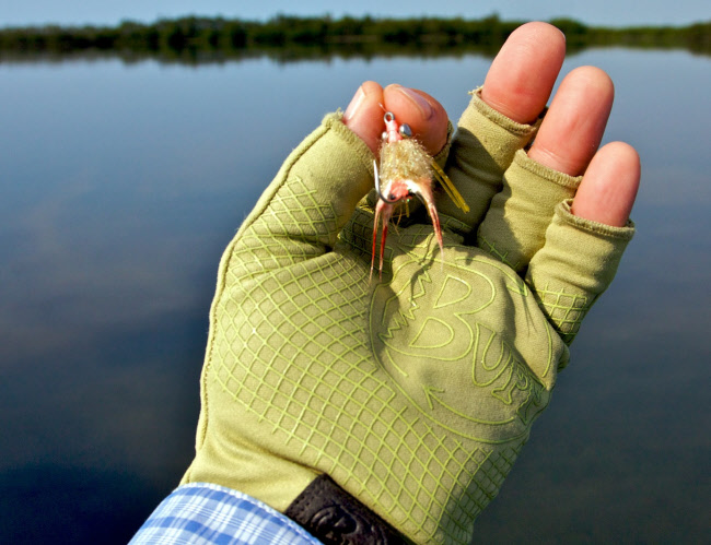 Bonefish scampi lead eye saltwater flies the fly for Buff fishing gloves
