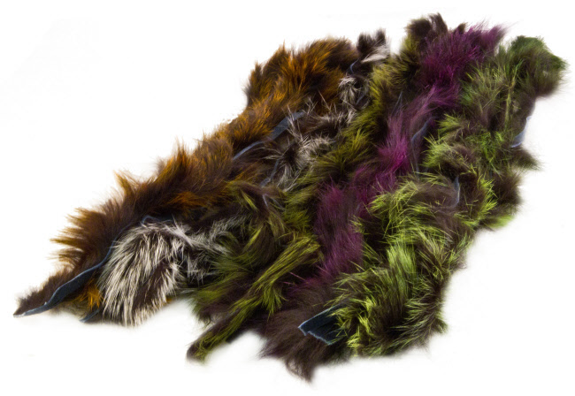 Hareline Rabbit Frostip Crosscut Strips