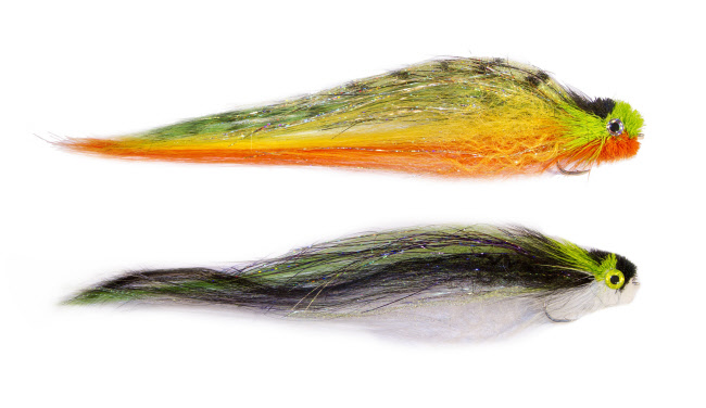 Musky Pike Flies 13cm 5//0 Hooks Thunder Roach Streamers Slow Sink Bucktail Epoxy