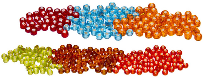 Hareline Tyers Glass Fly Tying Beads #18 - #24