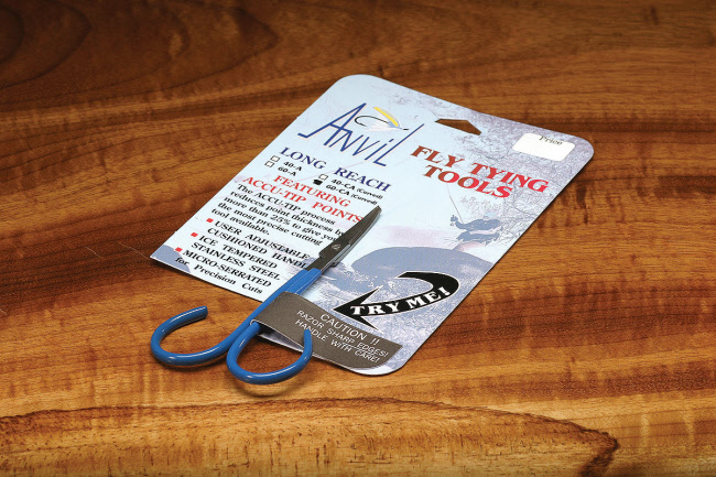 Anvil's Fine Point Curved Fly Tying Scissors