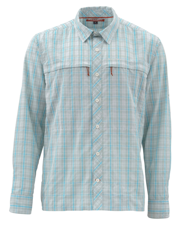 Simms Stone Cold Shirt Celadon Plaid