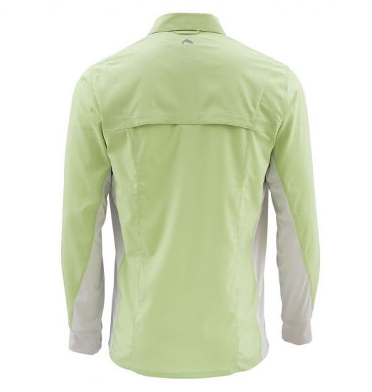 Simms Intruder BiComp LS Shirt Light Green Back
