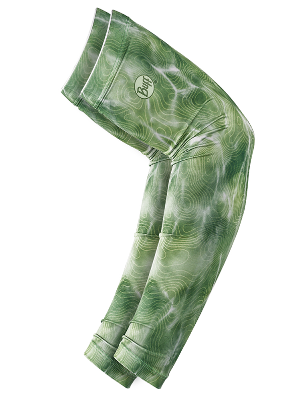 Buff UV Insect Shield Arm Sleeves Bugslinger Water Camo Green