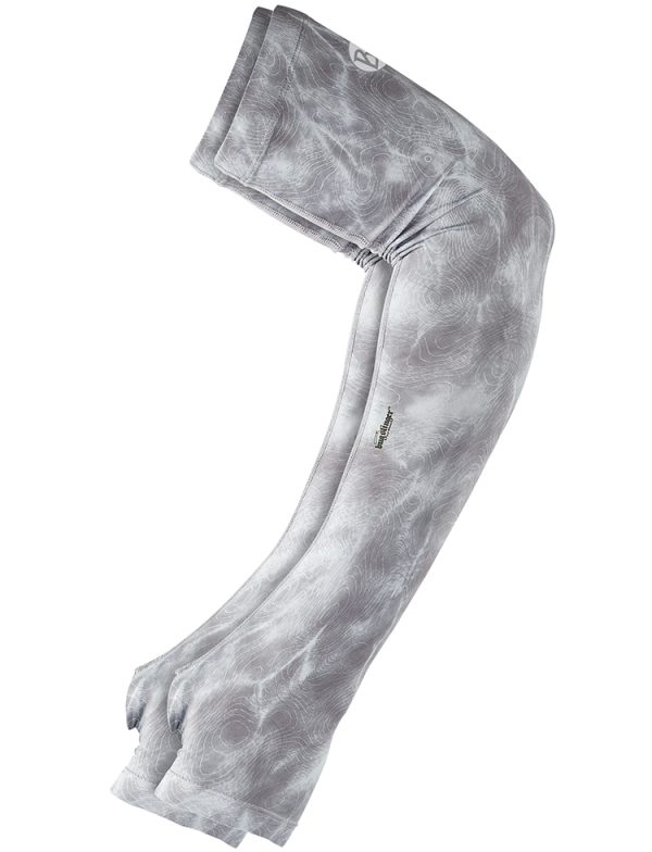 Buff UV Coastal Arm Sleeves Bugslinger Water Camo Light Grey
