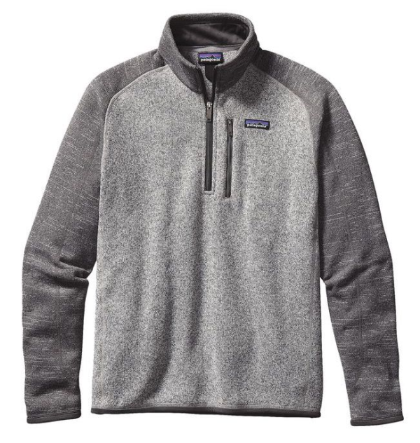 Patagonia Better Sweater 1/4 Zip Fleece Nickel with Forge Grey