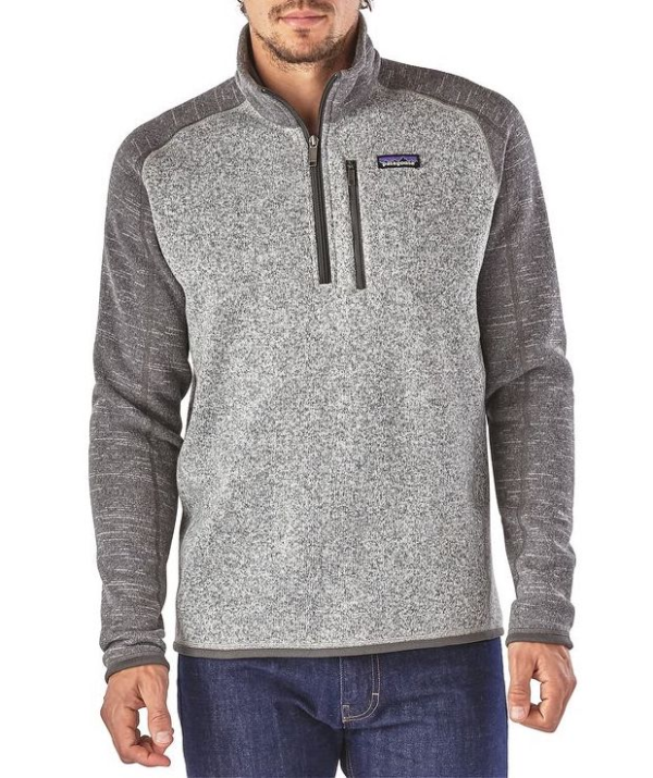 Patagonia Better Sweater 1/4 Zip Fleece Nickel with Forge Grey Front