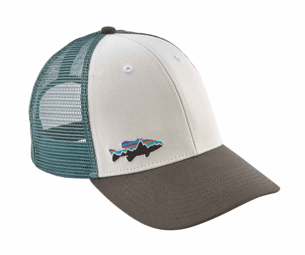 Patagonia Fitz Roy Smallmouth LoPro Trucker Hat White