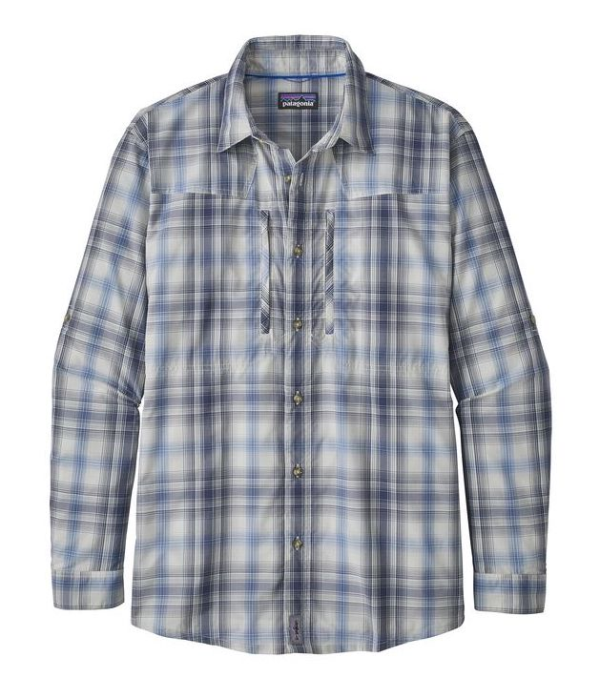 Patagonia Sun Stretch LS Shirt King Swing Radar Blue