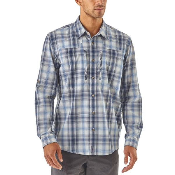 Patagonia Sun Stretch LS Shirt King Swing Radar Blue Front