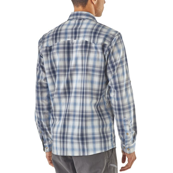 Patagonia Sun Stretch LS Shirt King Swing Radar Blue Back