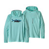 Patagonia Sunshade Technical Hoody Fitz Roy Tarpon Bend Blue