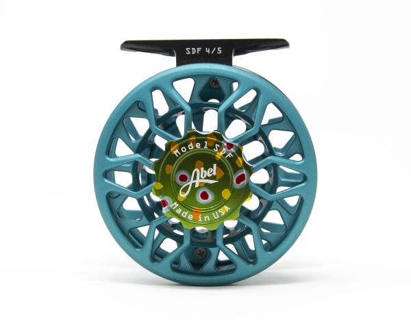 Abel SDF 4/5 Fly Reel Custom Shop Satin Teal Native Brook Trout Handle