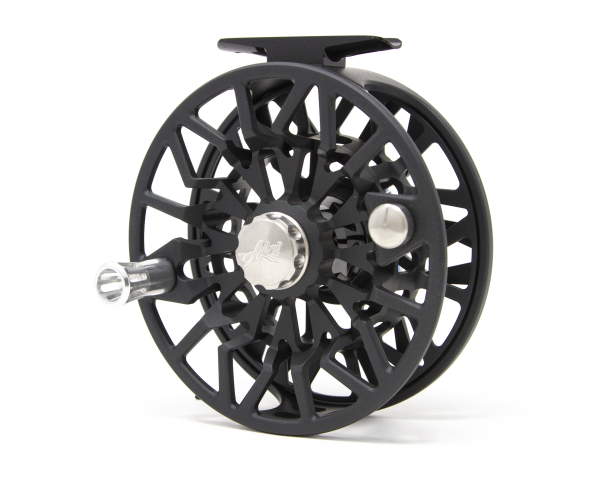 Abel SDS 11/12 Fly Reel Custom Satin Slate Grey Tarpon Drag Knob Back