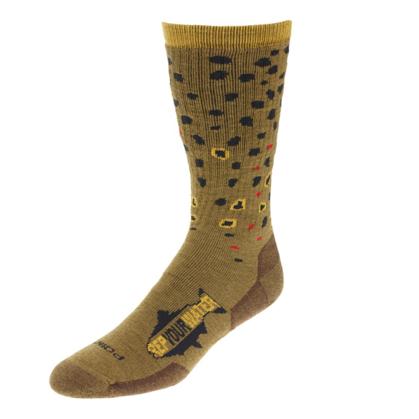 Rep Your Water Trout Socks - Brown Trout