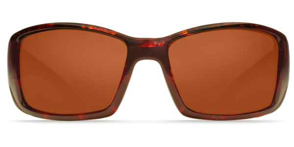Costa Del Mar Blackfin Polarized Sunglasses Tortoise Copper Front