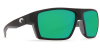 Costa Del Mar Bloke Polarized Sunglasses Matte Black Matte Gray Green Mirror Poly
