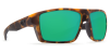 Costa Del Mar Bloke Polarized Sunglasses Matte Retro Tortoise Matte Black Green Mirror Glass