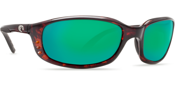 Costa Del Mar Brine Polarized Sunglasses Tortoise Green Mirror