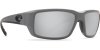Costa Del Mar Fantail Polarized Sunglasses Matte Gray Silver Copper Mirror Glass