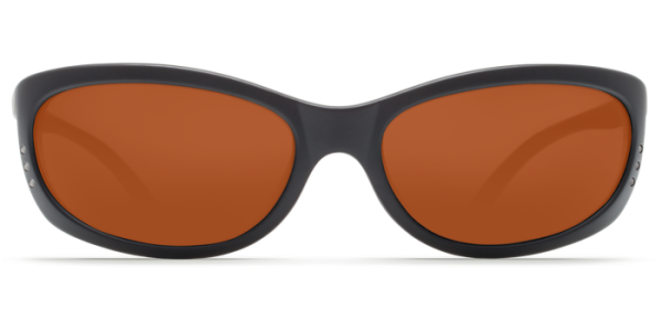 Costa Del Mar Fathom Polarized Sunglasses Matte Black Copper Poly Front