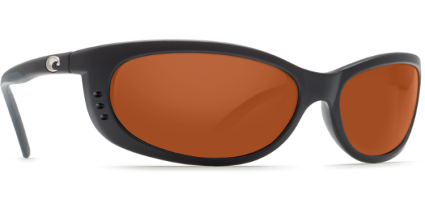 Costa Del Mar Fathom Polarized Sunglasses Matte Black Copper Poly