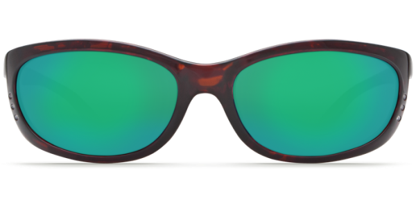 Costa Del Mar Fathom Polarized Sunglasses Tortoise Green Mirror Front