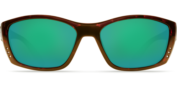Costa Del Mar Fisch Polarized Sunglasses Tortoise Green Mirror Poly Front