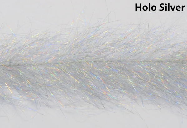 Frenzy Fly Fiber Brush Holo Silver