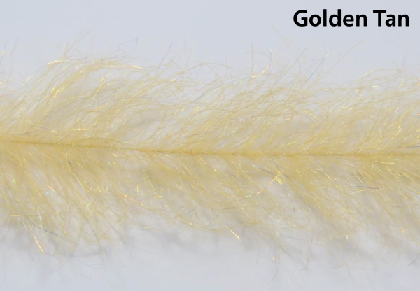 Frenzy Fly Fiber Brush Golden Tan