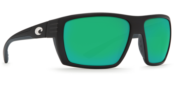 Costa Del Mar Hamlin Polarized Sunglasses Matte Black Green Mirror