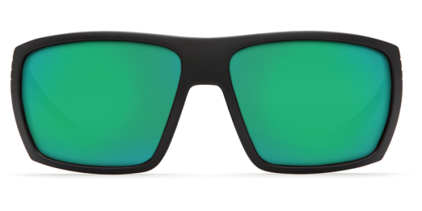 Costa Del Mar Hamlin Polarized Sunglasses Matte Black Green Mirror Front