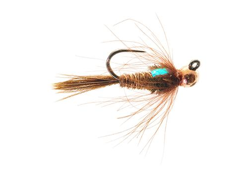 Jigged CDC Pheasant Tail Nymph Fly for Trout