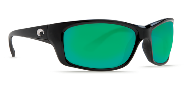 Costa Del Mar Jose Polarized Sunglasses Shiny Black Green Mirror Poly