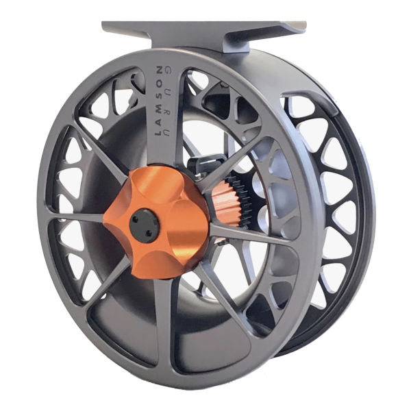 Lamson Guru II Fly Reel Grey Orange