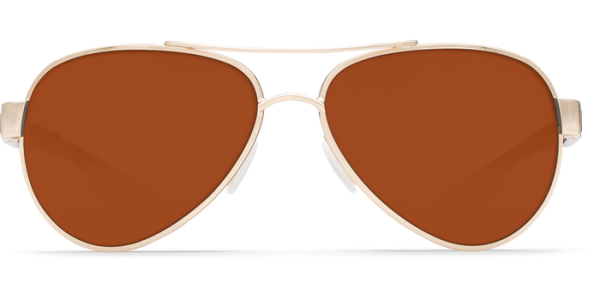 Costa Del Mar Loreto Polarized Sunglasses Rose Gold Tortoise Copper Poly Front