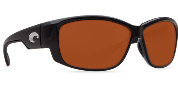 Costa Del Mar Luke Polarized Sunglasses Shiny Black Copper Glass