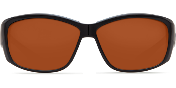 Costa Del Mar Luke Polarized Sunglasses Shiny Black Copper Glass Front