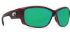 Costa Del Mar Luke Polarized Sunglasses Tortoise Green Mirror Poly