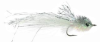Mini Murdich Minnow Bass Fly Gray White