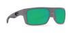 Costa Del Mar Motu Polarized Sunglasses Matte Gray Green Mirror Poly