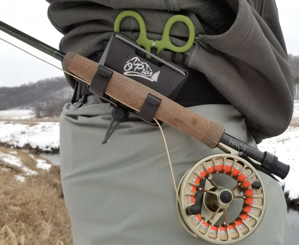 OPros 3rd Hand Fly Rod Holder Action