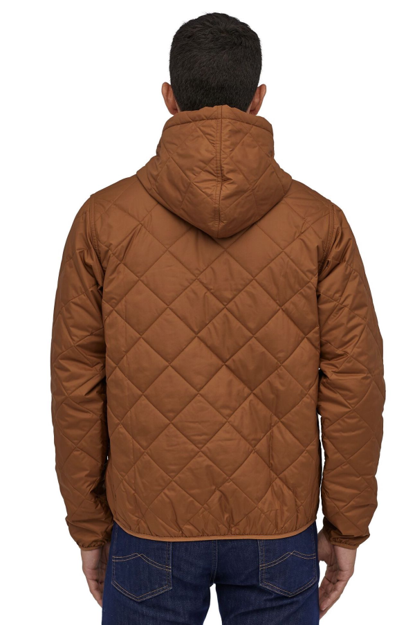 Patagonia Diamond Quilted Bomber Hoody 27610 EWBN Model Back